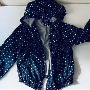 Girls GAP blue & polka dot jacket